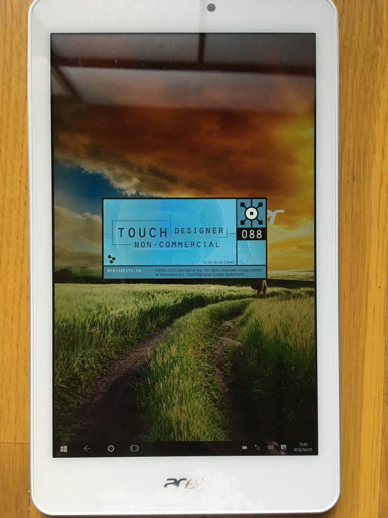 Windowsタブレット+TouchDesigner