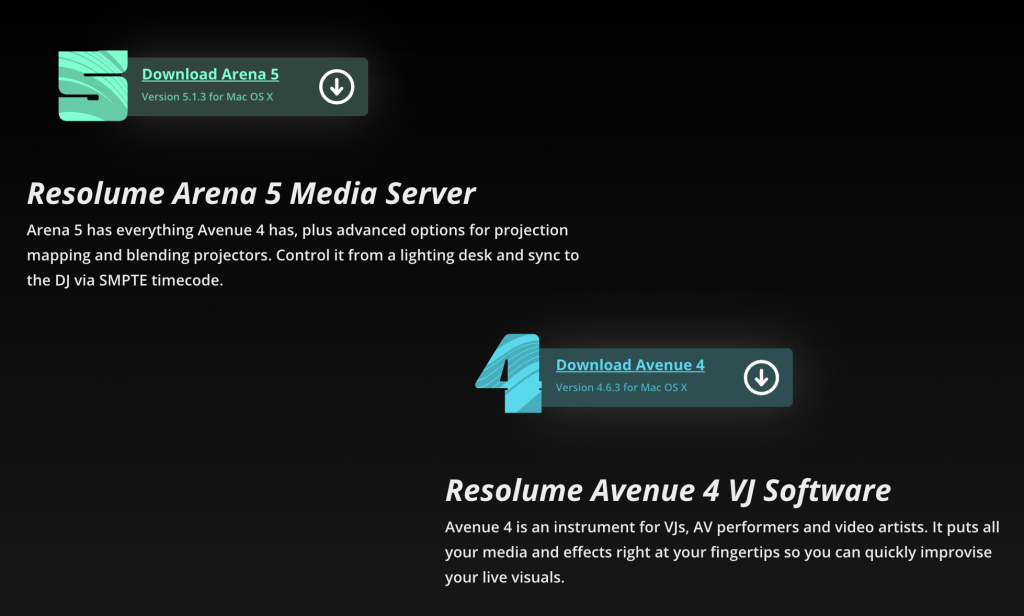 Resolume Arena 5.1.3 & Avenue 4.6.3