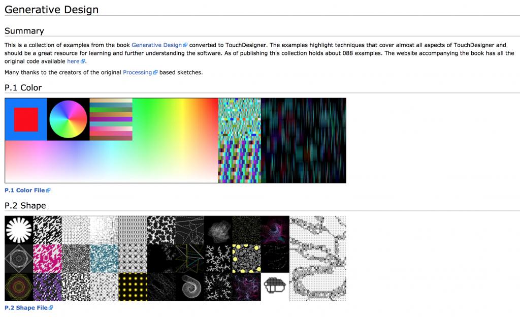 Generative DesignをTouchDesignerでやってみる