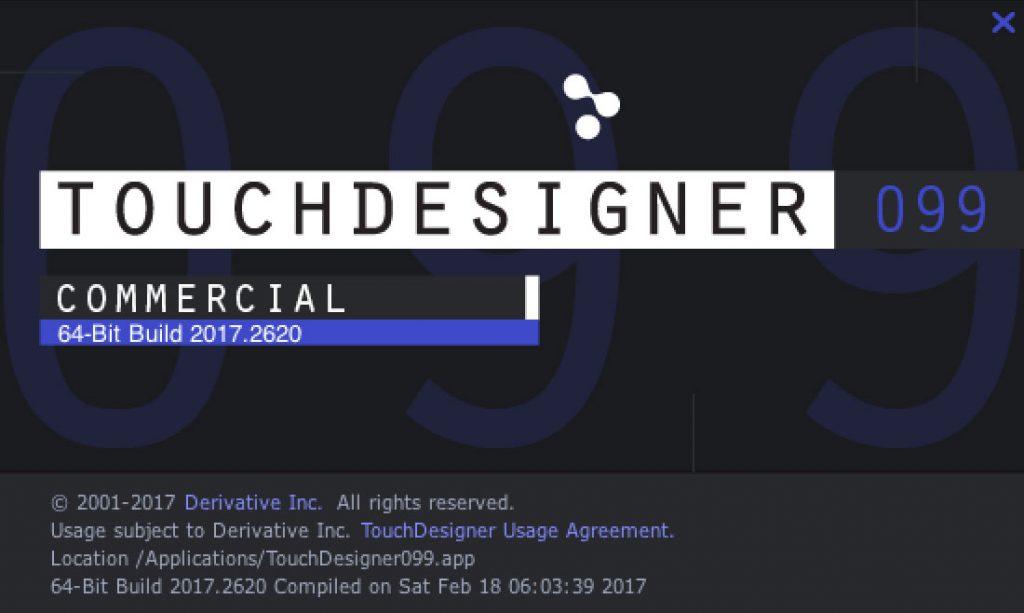 TouchDesigner099 2017.2620