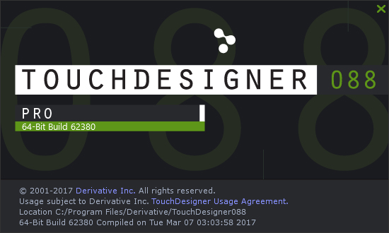 TouchDesigner088 Build62380