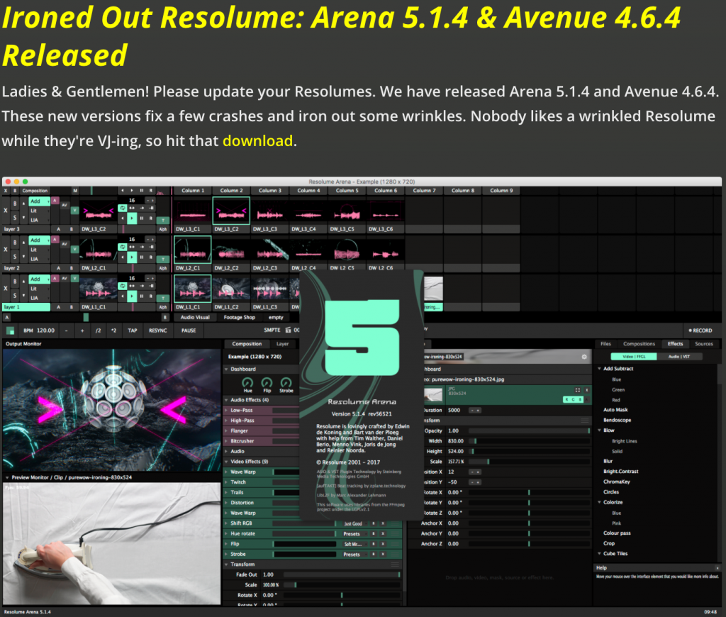 Resolume Arena 514 & Resolume Avenue 464